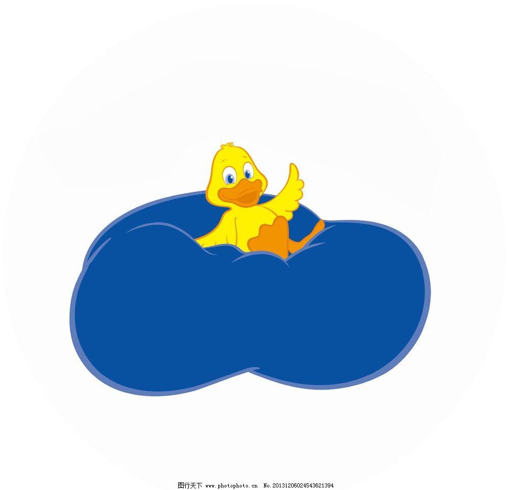 飞入云端鸭子 鸭子卡通设计 卡通素材 设计图 动物设计 家禽设计