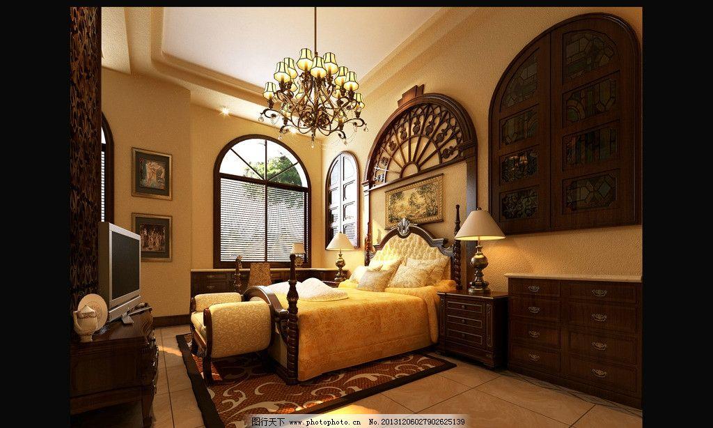 室内设计 装修效果图 欧式风格      美式风格 家装        3d作品 3d