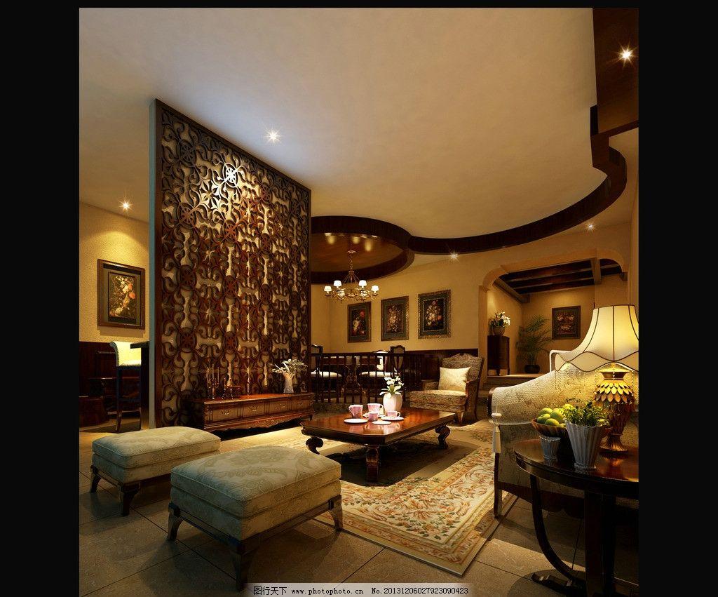 室內設計 裝修效果圖 家裝        中式 中國風      沙發墻 3d作品 3