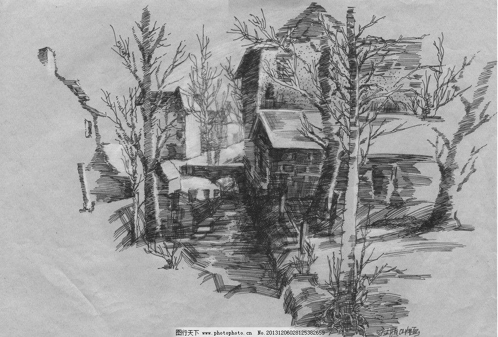 室外手绘钢笔画练习稿 园林 建筑 室外 手绘 钢笔画 练习稿 景观设计