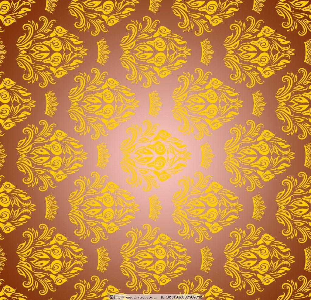花纹 金色 欧式花纹 壁纸 背景 源文件