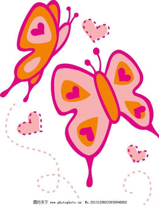 蝴蝶图片,卡通 儿童 儿童印花 图案 图形设计 创意-图