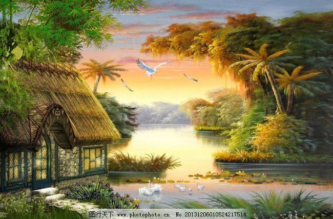 世界大师风景油画夜空