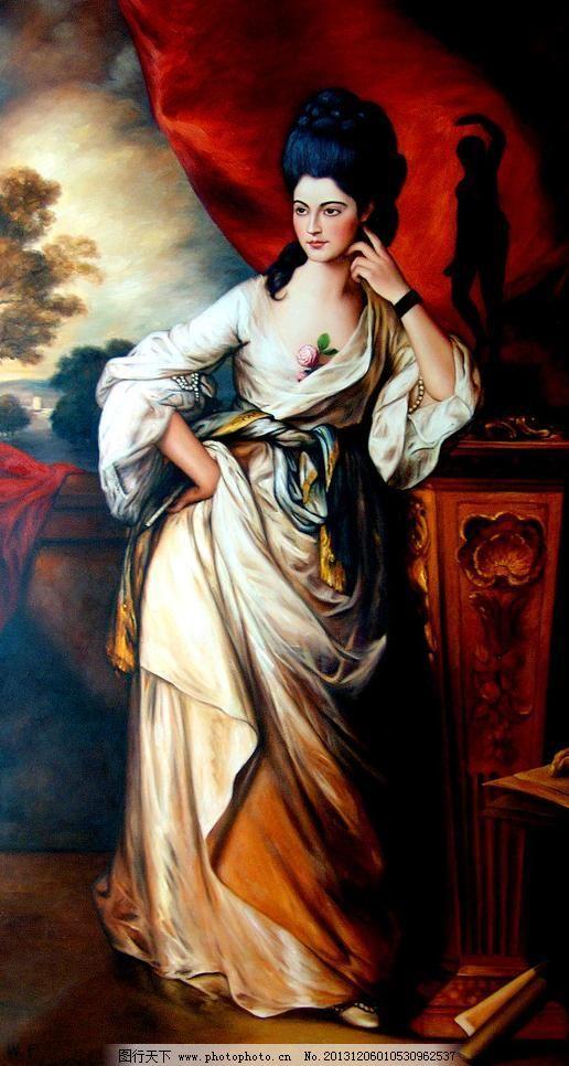 凝神 表情 动作 发型 绘画书法 丽人 美丽 美术 女子 油画