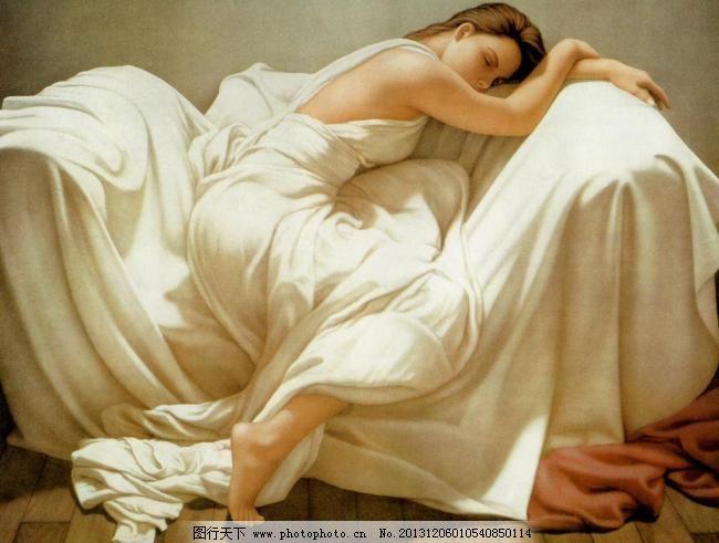 油画 睡美人设计素材 睡美人模板下载
