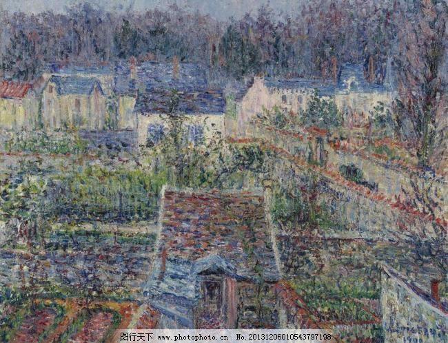 tif 壁画 村庄 绘画书法 精品 美术 美术作品 名画 欧洲油画 农村小镇图片