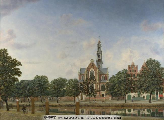 阿姆斯特丹 壁画 绘画书法 建筑油画 精品 美术 名画 欧式油画