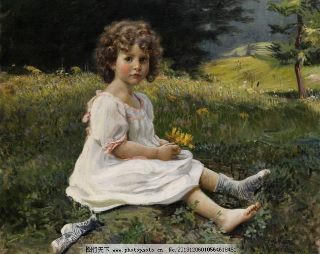 油画 油彩 绘画 色彩 美术 外国 装饰画 配画 挂画 艺术 人物 小孩