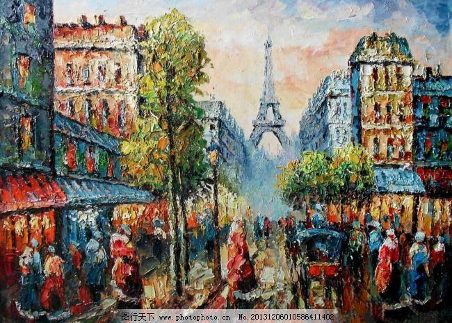 巴黎铁塔街景图片