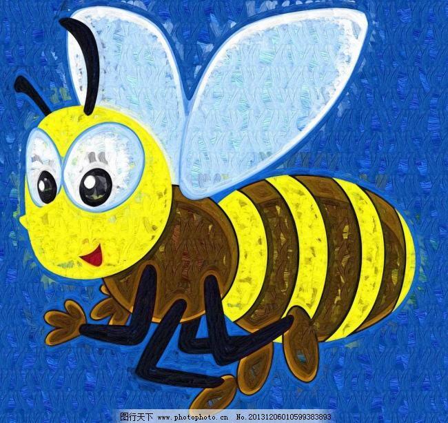 蜜蜂 儿童画 绘本 绘画书法 卡通画 昆虫 手绘 蜜蜂设计素材
