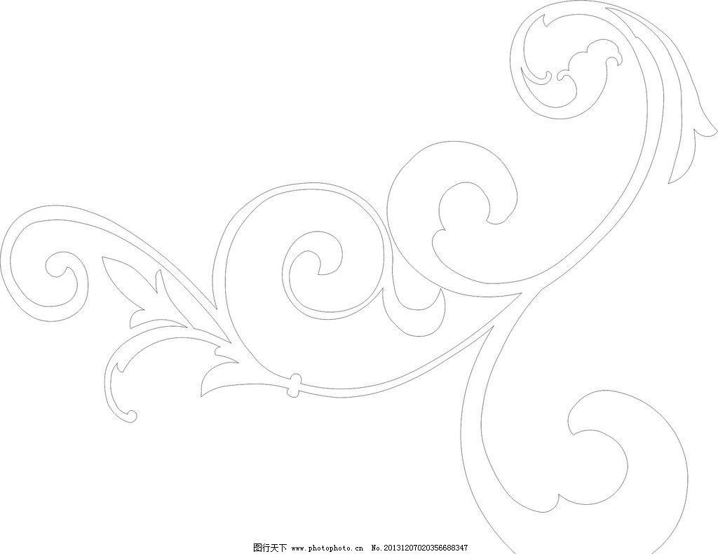 可爱花边边框简笔画线条