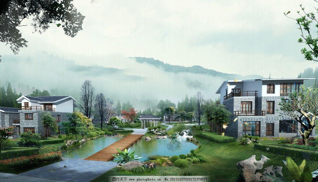 园林建筑风景图片