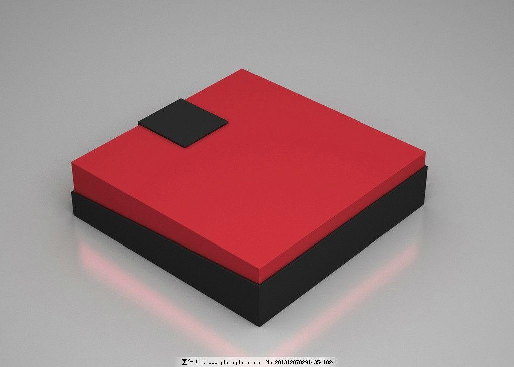 礼盒效果图 天地盖 礼盒        红黑 月饼盒 茶叶盒 包装设计 广告图片