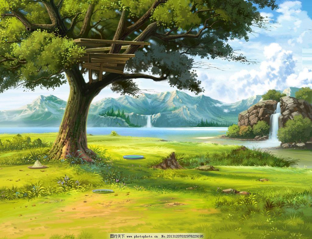 手绘风景游戏场景图片