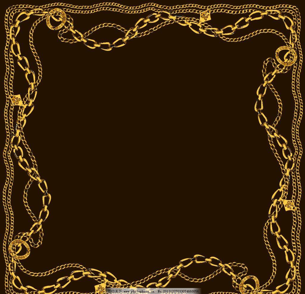 花边 铁链 背景 褐色 边框 psd分层素材 源文件 300dpi psd