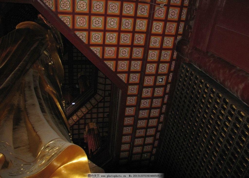 佛堂设计佛堂装修 佛堂效果图 寺庙效果图 中式天花中式吊顶 彩绘天花
