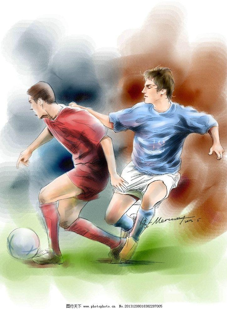手绘人物 气质 漫画 动漫 帅哥 男人 运动 体育 足球 动漫动画