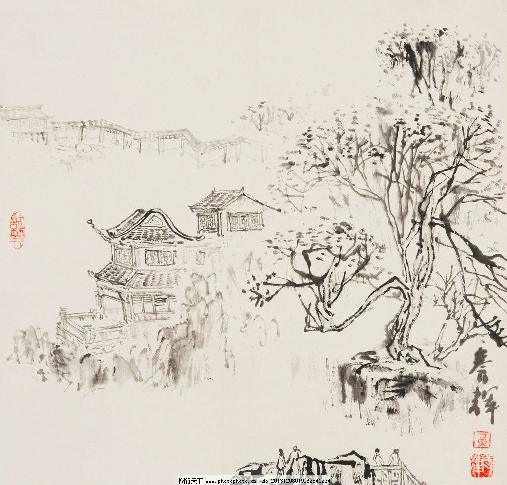 拙政园 黄养辉 国画 苏州