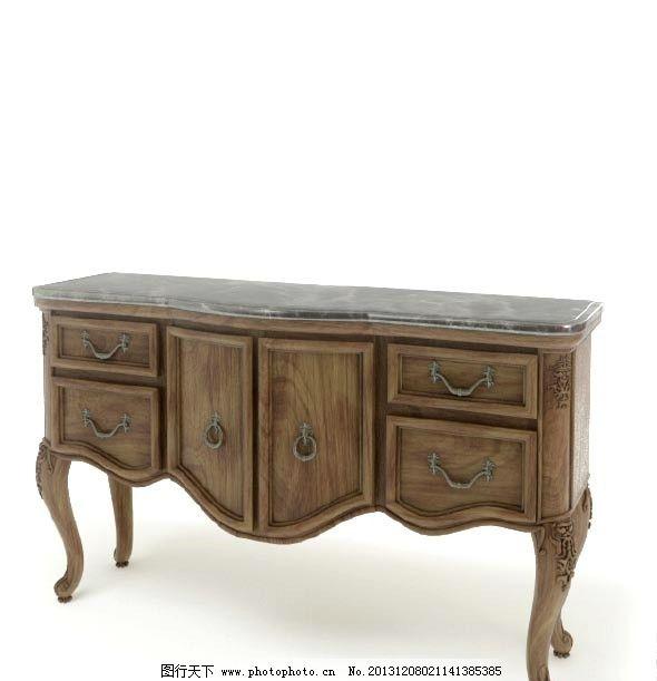 实木家具 家具模型 室内模型           欧式实木家具模型 3d设计模型