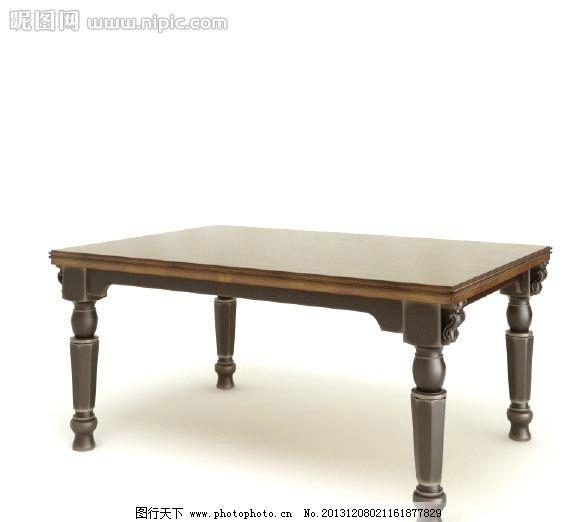 茶几 欧式家具 实木家具 家具模型 室内模型           欧式实木家具