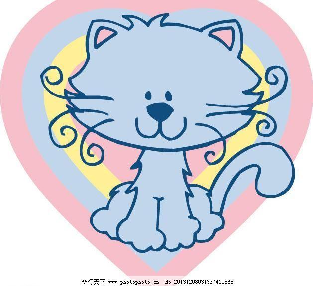 插画 创意 创意插画 创意设计 儿童服装 儿童绘画 儿童印花 小猫矢量