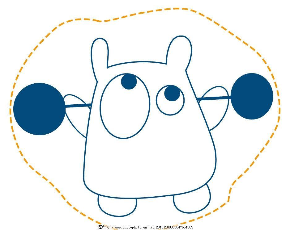 动物卡通 举重 卡通 儿童 t恤印花 儿童印花 图案 图形设计 创意插画