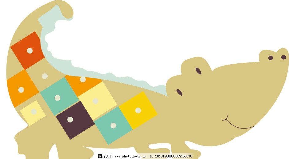 儿童装饰画动物组合鳄鱼