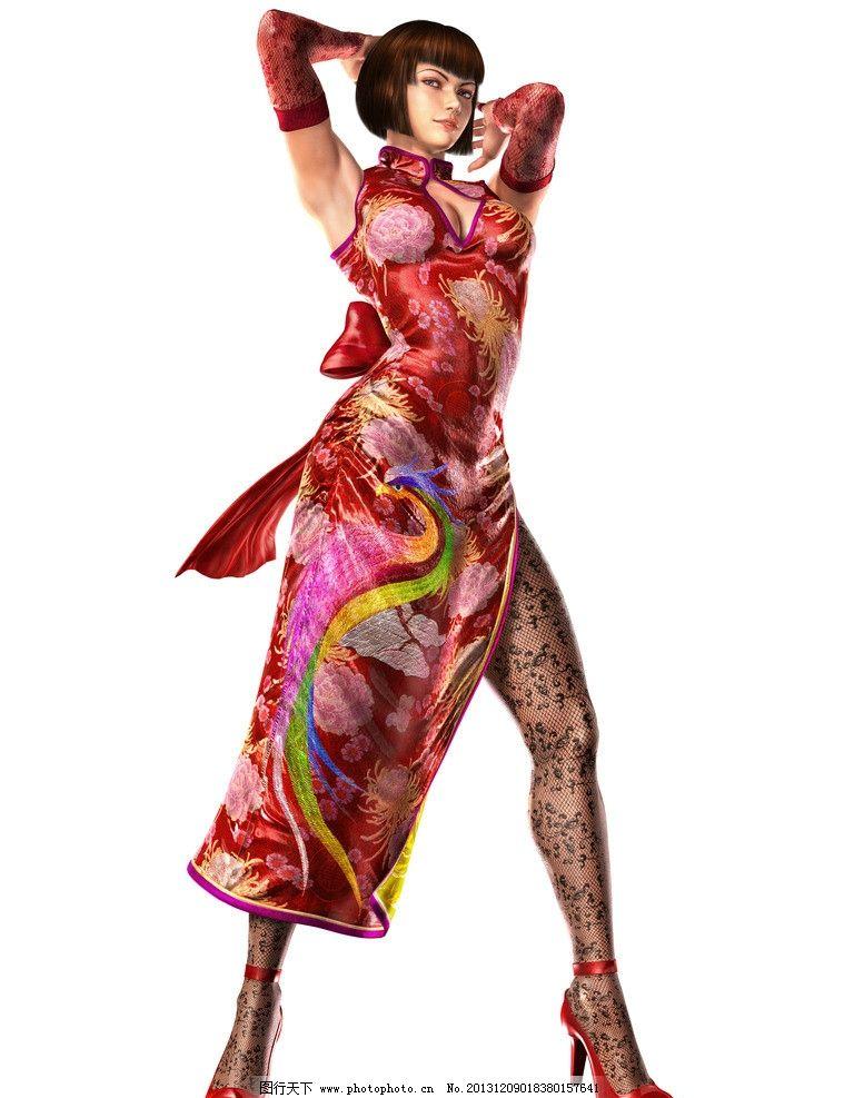 卡通人物 旗袍 模特