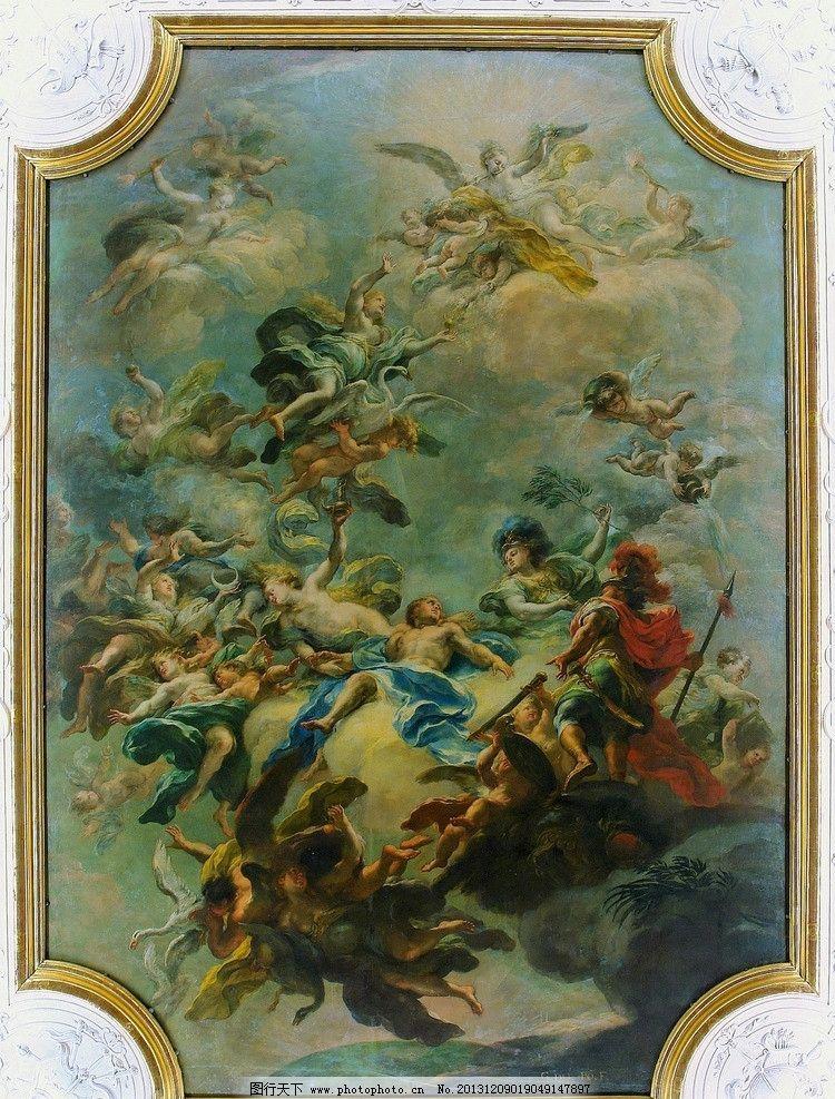 贝尔佛第宫 油画 风景画 人物画 油彩 壁画 天顶画 绘画艺术 绘画书法