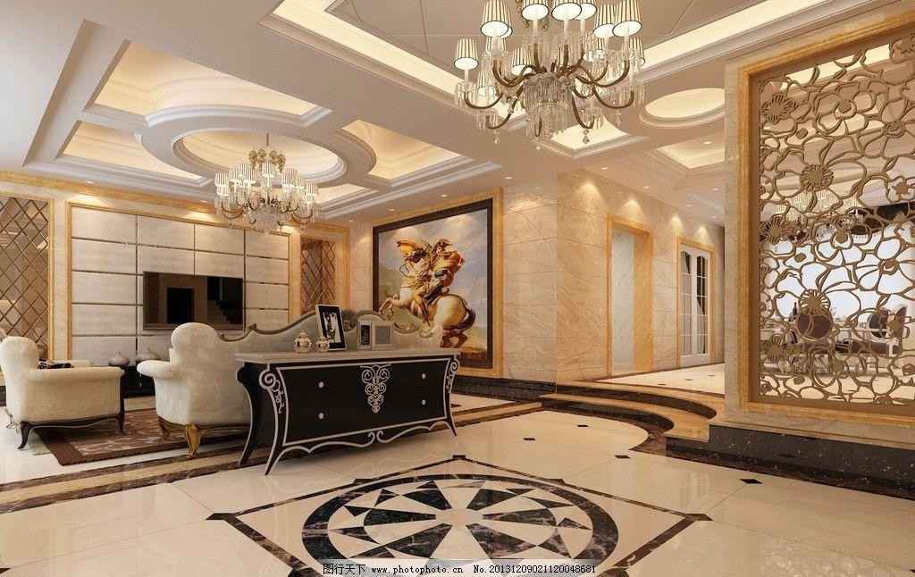 别墅客厅效果图 欧式风格 现代风格 别墅      家装客厅        3d