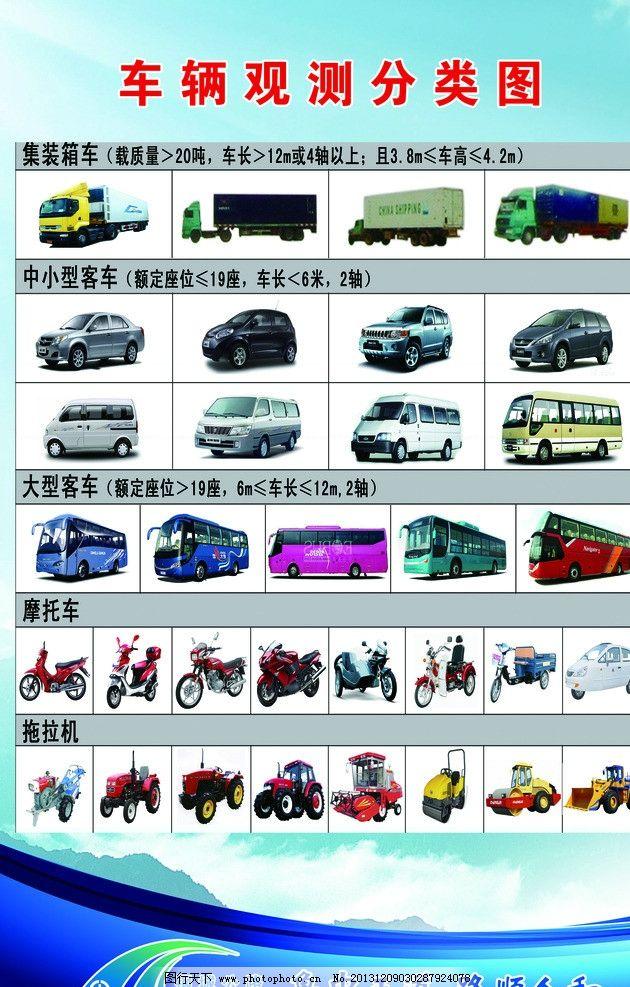 车辆观测分类图 车辆 车辆类型 公路局 收费站 展板模板 广告设计模板