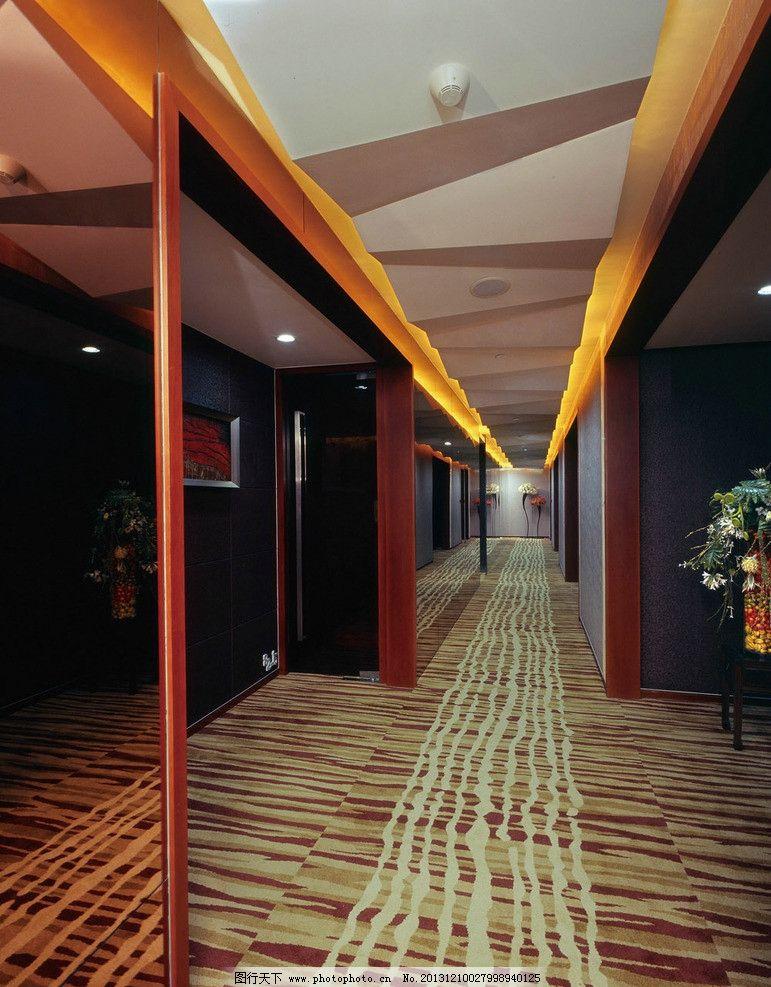 普通宾馆走廊效果图