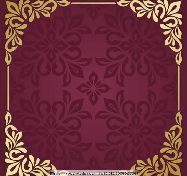 花纹标签 古典花纹 时尚欧式花纹 复古元素 手绘花纹 精美花纹 菜单
