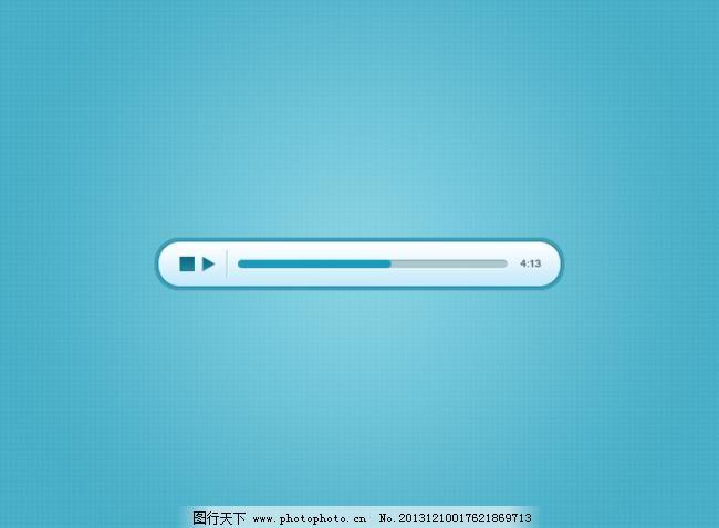 蓝色的音频播放器