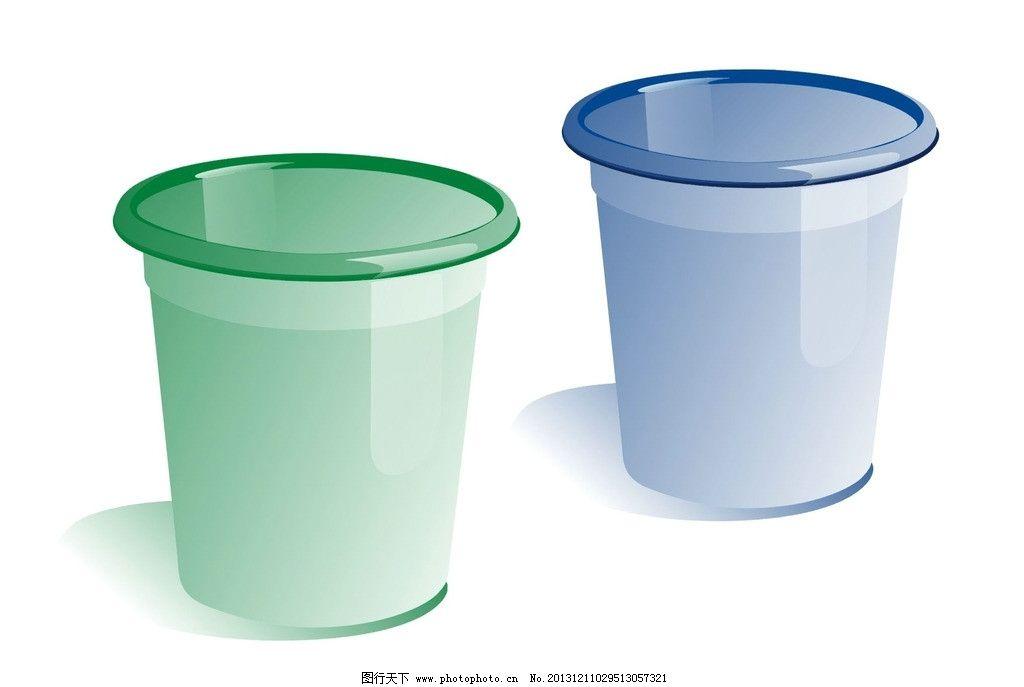 垃圾桶 杯子 矢量