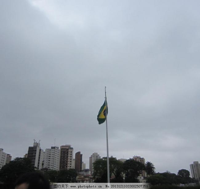 城市 巴西 草坪 道路 雕塑 都市 国旗 国外旅游 城市图片素材下载