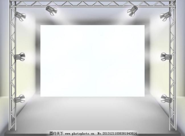 设计图库 展板 其他  eps 白色 背景 边框 灯光 底纹 广告设计 画廊
