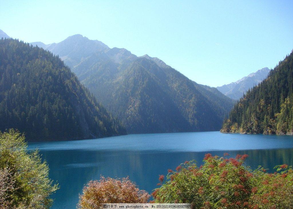 秋天山水 山水 秋果 水色 蓝水 自然风景 旅游摄影 摄影 72dpi jpg