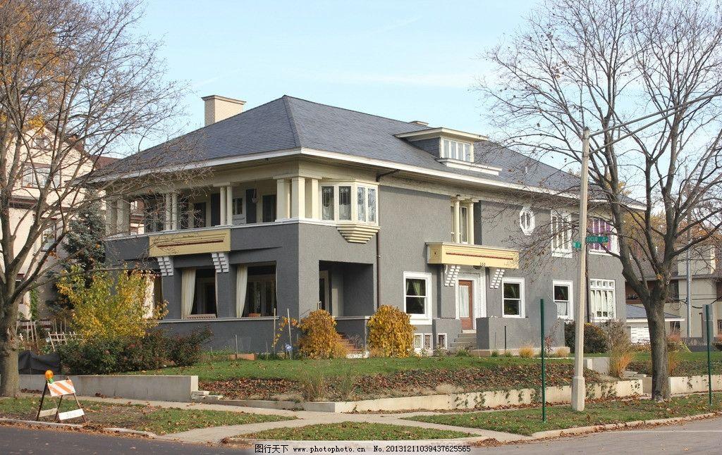 别墅 秋景 芝加哥 赖特 现代主义 建筑摄影 建筑园林 摄影 72dpi jpg