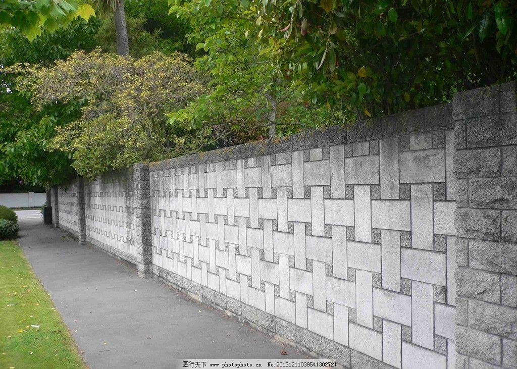围墙 石头 公园 路 建筑 园林建筑 建筑园林 摄影 72dpi jpg