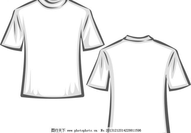 短袖图片免费下载 ai t恤 短袖 短袖模板下载 服装设计 广告设计 黑白