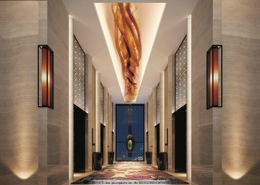 五星级酒店过道 酒店 房间 灯光 3d 建模 走道 3d设计 设计 28dpi bmp