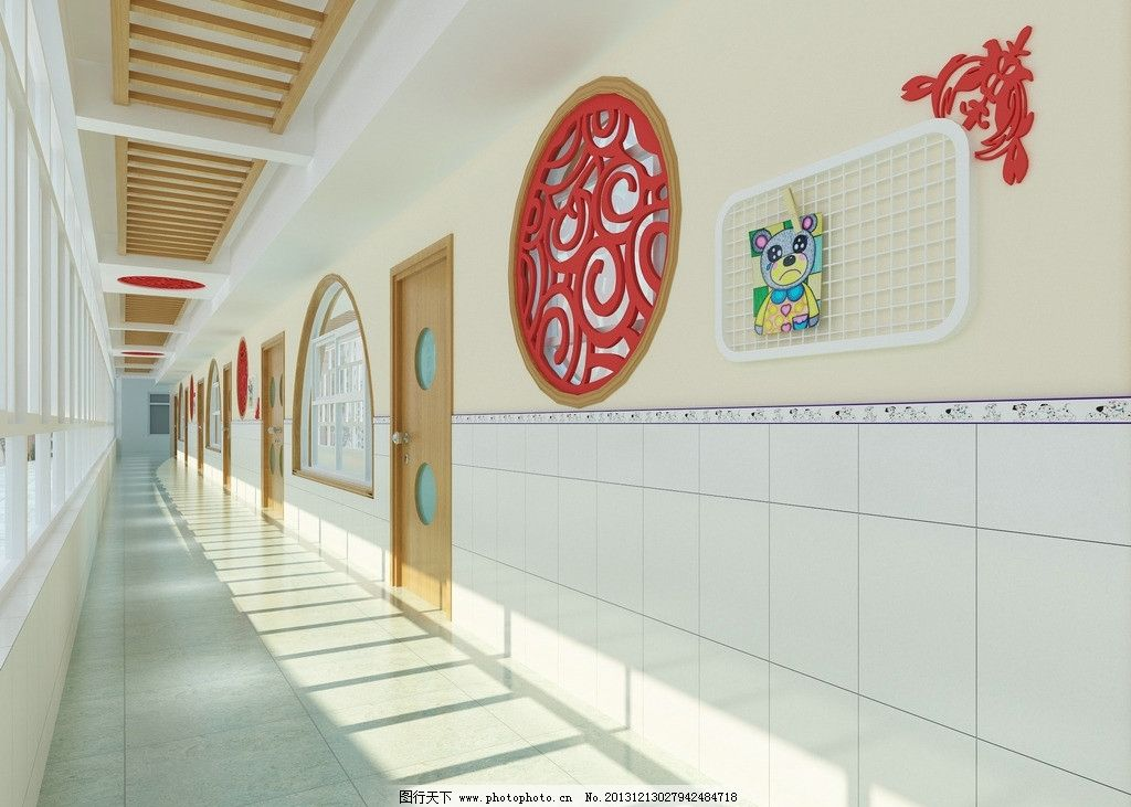 幼儿园走廊图片