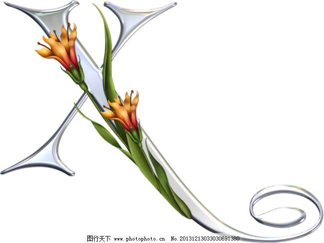 花藤字母-x