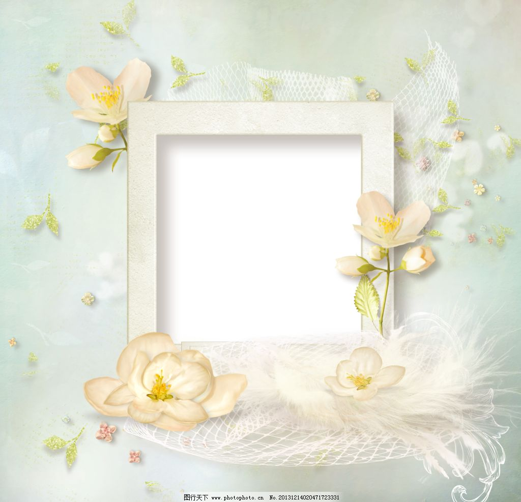 婚礼相册平面设计图图片_边框相框_底纹边框_图行天下
