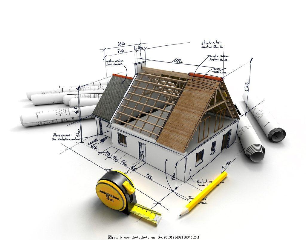 建筑设计 建筑图纸 示意图 样板 别墅 模型 住宅 图纸 平面图 工程图