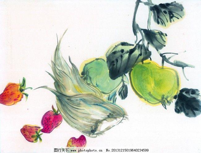 中国水墨画免费下载 国画 蔬菜 水墨 素材 装饰 国画 水墨 素材 装饰