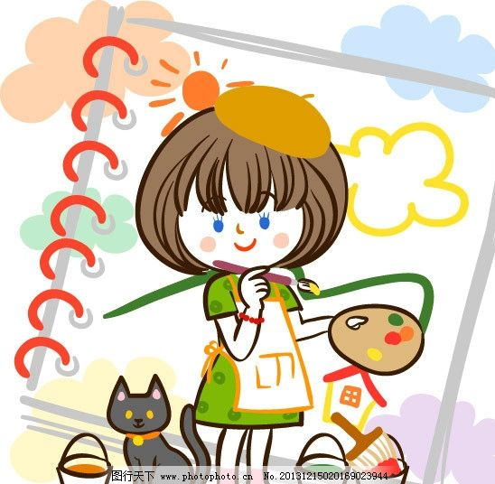 卡通乐园 快乐儿童 儿童绘画 卡通形象 幼儿绘画 儿童世界 卡通设计