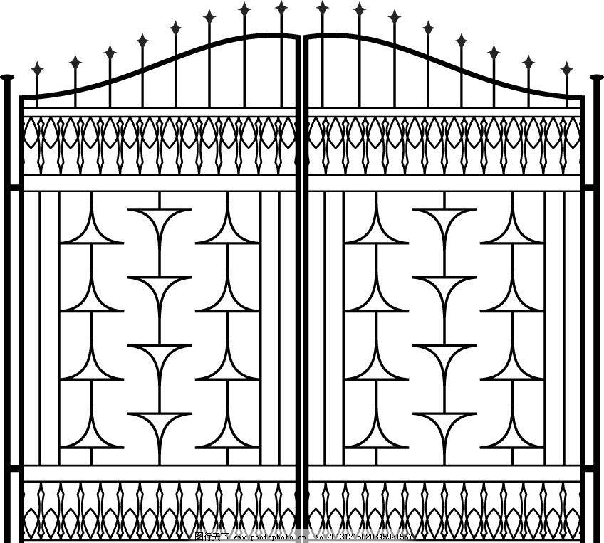 铁艺花纹 矢量铁艺 门窗 花纹 铁艺 围栏 铁制围墙 铁艺矢量 欧式花纹