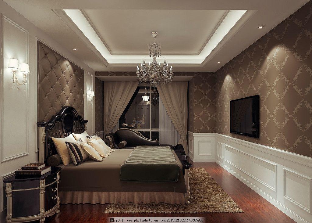主卧 装修 现代简约        设计 床铺 装修效果图 3d设计 300dpi jpg图片